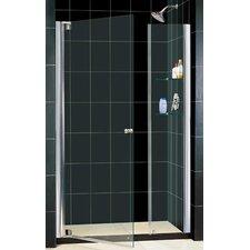 """Elegance 25.25"""" - 61.75"""" W x 72"""" H Pivot Adjustable Shower Door"""