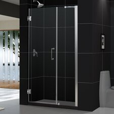 "Unidoor 54 - 55"" W x 72"" H Hinged Shower Door"