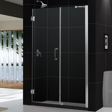 "Unidoor 60 - 61"" W x 72"" H Hinged Shower Door"