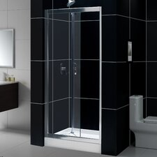 "Butterfly 32-60"" W x 74.75"" H x 30"" D Bi-Fold Shower Door with SlimLine Base"
