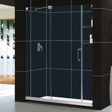 "Mirage 60"" W x 74.75"" H x 34"" D Frameless Shower Door and SlimLine Shower Base"