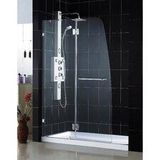 AquaLux Hinged Shower Door and SlimLine Shower Base