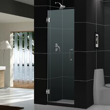 """Unidoor 30"""" W x 72"""" H Hinged Shower Door"""