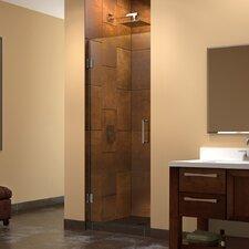 """Unidoor 26"""" W x 72"""" H Hinged Shower Door"""