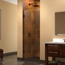 "Unidoor 25"" W x 72"" H Hinged Shower Door"