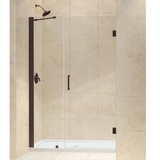 "Unidoor 49 - 50"" W x 72"" H Hinged Shower Door"