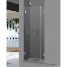 "UnidoorLux 30"" Frameless Hinged Shower Door, 3/8"" Glass Door"