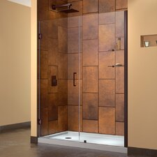 "Unidoor 56 - 57"" W x 72"" H Hinged Shower Door"