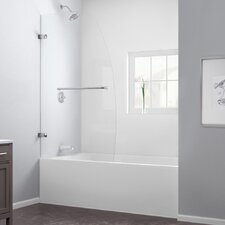 "Aqua Uno 34"" W x 58"" H Single Panel Hinged Tub Door"