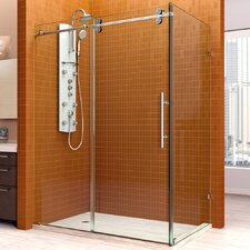 "Enigma 36"" by 60 1/2"" Fully Frameless Sliding Shower Enclosure, Clear 1/2"" Glass Shower"