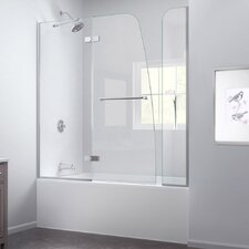 Aqua Ultra 56 to 60 in. W x 58 in. H Hinged Tub Door with Hardware