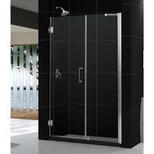 "Unidoor 59 to 60"" Frameless Hinged Shower Door, Clear 3/8"" Glass Door"