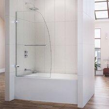 "Aqua Uno 34"" Frameless Glass Hinged Tub Door"