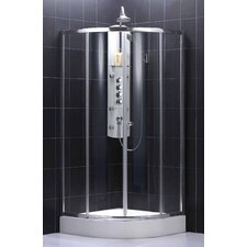 Sector Center Sliding Door Shower Enclosure (Medium)