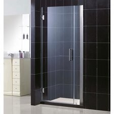 "Unidoor Frameless Hinged Shower Door with 6"" Panel"