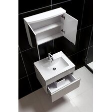 "24"" Wall-Mounted Modern Bathroom Vanity Set with Single Sink"