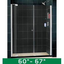 "Allure 60-67"" W x 73"" H Pivot Shower Door"