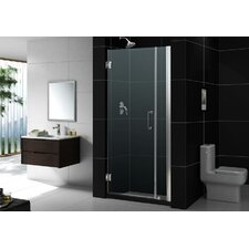 "Unidoor 29"" W x 72"" H Hinged Shower Door"