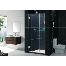 <strong>Dreamline</strong> Unidoor Frameless Hinged Shower Door with Glass Shelves