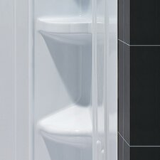 <strong>Dreamline</strong> SlimLine Quarter Round Floor  Shower Enclosure
