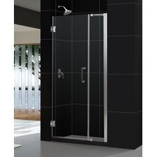"Unidoor 42-43"" W x 72"" H Hinged Shower Door"