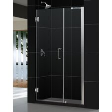 "Unidoor 44-45"" W x 72"" H Hinged Shower Door"
