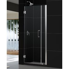 "Unidoor 35-36"" W x 72"" H Hinged Shower Door"