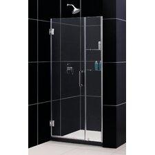 """Unidoor 35-36"""" W x 72"""" H Hinged Shower Door"""