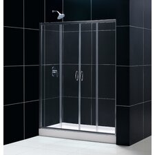 """Visions 60"""" W x 74.75"""" H x 30"""" D Bypass Shower Door with SlimLine Base"""
