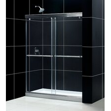 "Charisma 60"" W x 74.75"" H x 30"" D Bypass Shower Door with SlimLine Base"