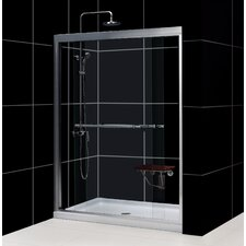 Duet Bypass Shower Door and SlimLine Shower Base