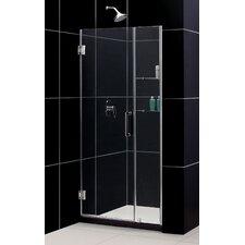 """Unidoor 38-39"""" W x 72"""" H Hinged Shower Door"""