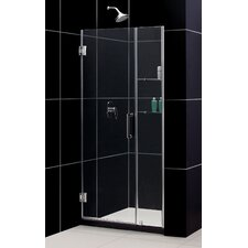 "Unidoor 39-40"" W x 72"" H Hinged Shower Door"