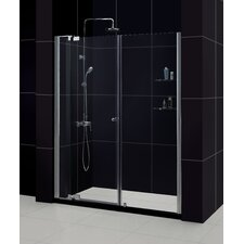 "Allure 60"" W x 75.75"" H x 30"" D Pivot Shower Door with SlimLine Base"