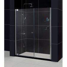"""Elegance 60"""" W x 74.75"""" H x 36"""" D Pivot Shower Door with SlimLine Base"""