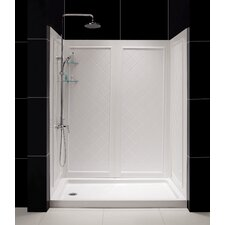 QWALL-5 Shower Enclosure with SlimLine Shower Base