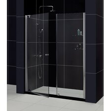 "Elegance 60"" W x 74.75"" H x 30"" D Pivot Shower Door with SlimLine Base"