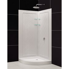 SlimLine Quarter Round Floor Shower Enclosure