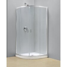 "Prime 33"" x 33"" Frameless Sliding Shower Enclosure"