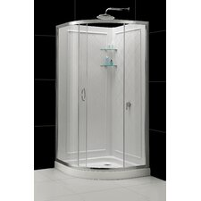 "Solo 38"" x 38""  Frameless Shower Enclosure"