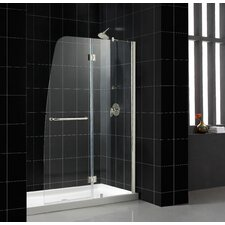 Aqua Hinged Shower Door in Clear Glass