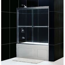 "Duet 56 to 59"" Frameless Bypass Sliding Tub Door"