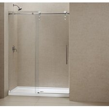 "Enigma-Z 60"" W x 78.75"" H x 32"" D Shower Door and Slimline Base"