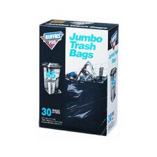 45 Gallon Jumbo Trash Bags in Black (30 Count)