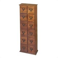 <strong>Leslie Dame Enterprises</strong> Library Style 12 Drawer Multimedia Cabinet