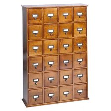 <strong>Leslie Dame Enterprises</strong> Library Style 24 Drawer Multimedia Cabinet