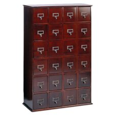 Library Style 24 Drawer Multimedia Cabinet