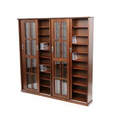 Glass Door Multimedia Cabinet