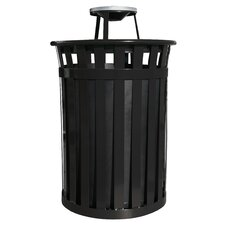 Oakley Trash Receptacle with Ash Top