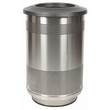 <strong>Witt</strong> Stadium Series 55 Gallon Stainless Steel Standard Unit with Flat Top Lid